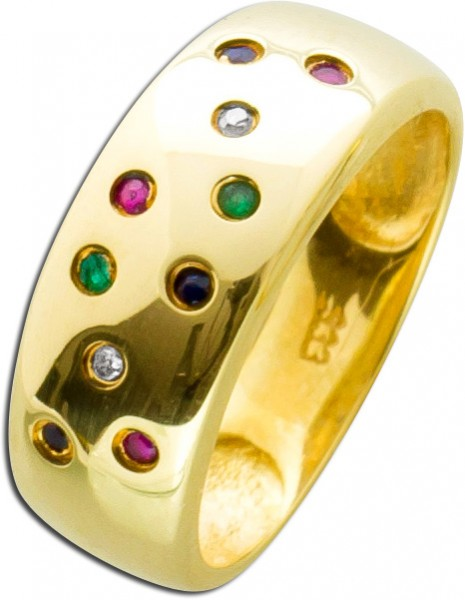 Ring – Edelsteinring Gelbgold 333 ...