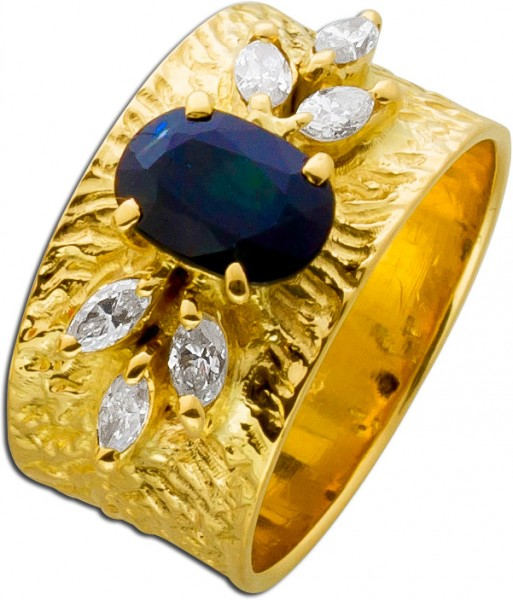Ring Gelbgold 750 Lapponia Look nachtbla...
