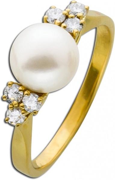 Ring Gelbgold 750 feinste japanische Ako...