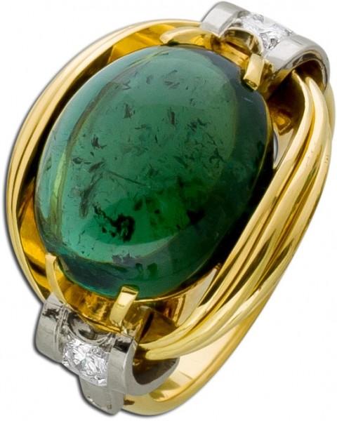 Antiker Edelsteinring um 1950 Gelbgold W...