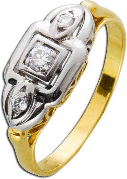Antiker Ring um 1920 Art Deco Gelbgold 5...