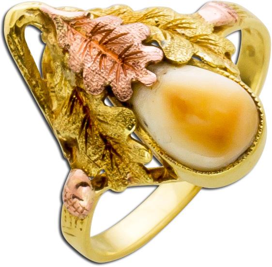 Grandelring Antik Gelbgold Rosègold 585...