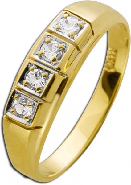 Brillant Memoire Ring  Antiker Gelbgold ...
