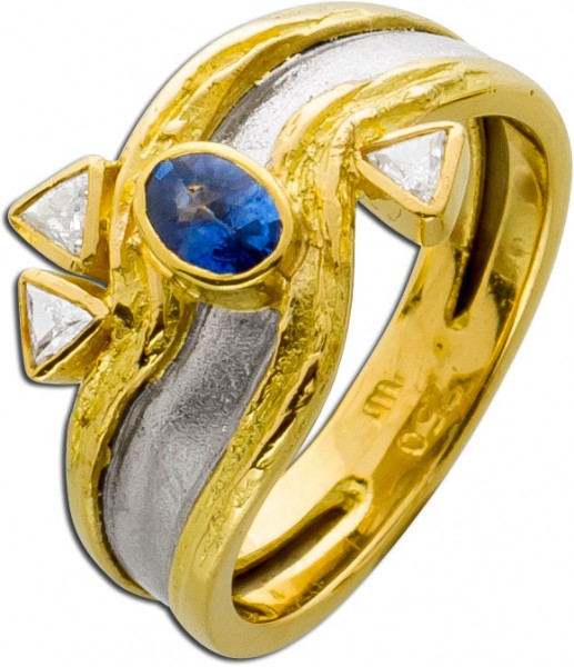 Brillant Ring Lapponia Look Weiss Gold G...
