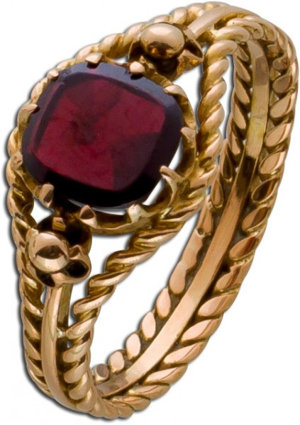 Granat Ring Rosegold 585 roter Granat Ko...