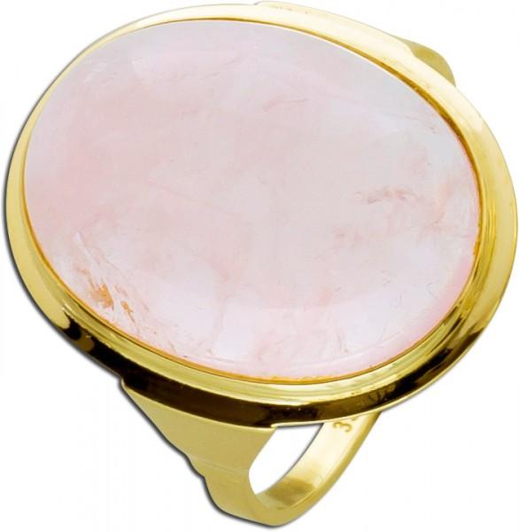 Rosa Rauchquarz Ring Gelbgold 333 Antik ...
