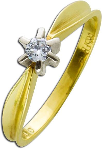 Brillant Ring Gold 585 Diamanten Weißgo...