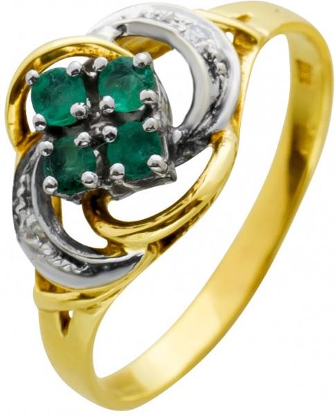 Ring Antik Gold Weissgold 585 Edelstein ...