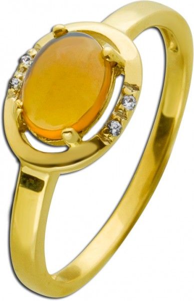 Ring Gold 333 Edelstein Opal Cabochon we...