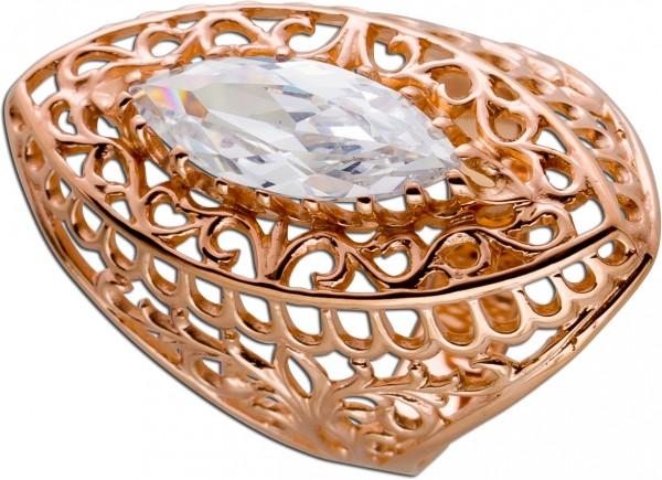 Ring Antik Rotgold 585 Rosegold Navette ...