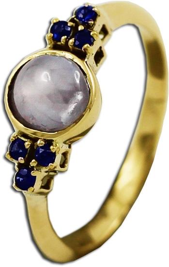 Antiker Edelstein Ring Gelb Gold 585 Mon...