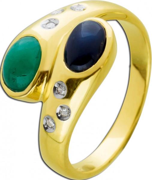 Antiker Edelstein Ring Gelbgold 585/- bl...
