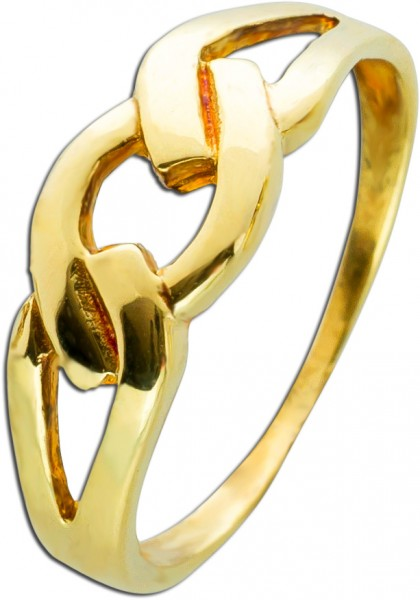 Kettenring Gelb Gold 333/- Opulente Ring...