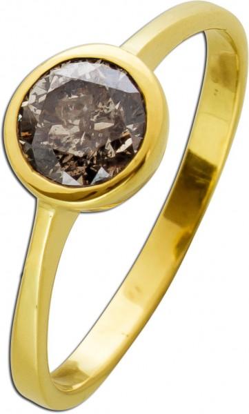 Verlobungsring Solitär Ring Gelbgold 58...