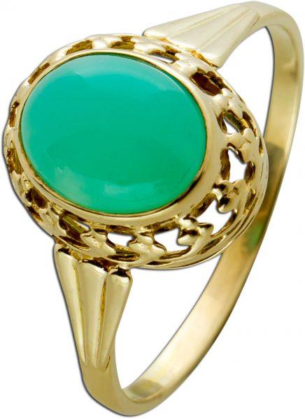 Antiker Achat Edelstein Ring , Gelbgold 333  Gr.21mm