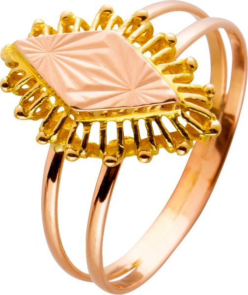 Russische Goldschmiedekunst Antiker Ring Gelbgold Rosegold 585 Gr. 17,5mm