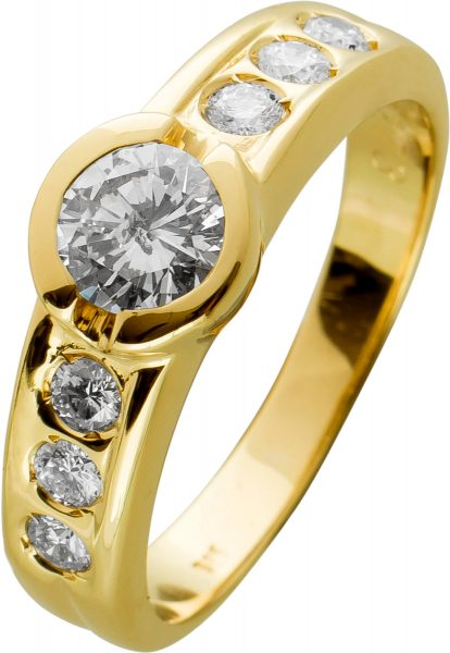 Brillant Ring Gelbgold 585 mit Brillanten