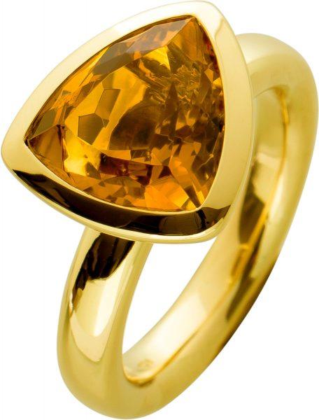 Antiker Edelstein Ring,Antik,Gelbgold,750, Citrin ca 3ct, Stuttgart Hofjuwelier Werner Jacobi,gr,16,8mm, mit Görg Zertifikat