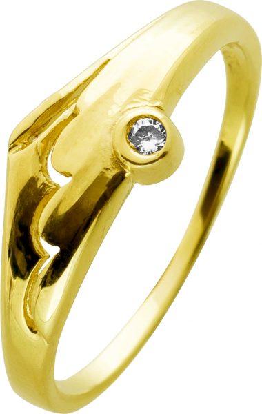 Ring Gelbgold 333 Brillant 0,01ct TW/SI