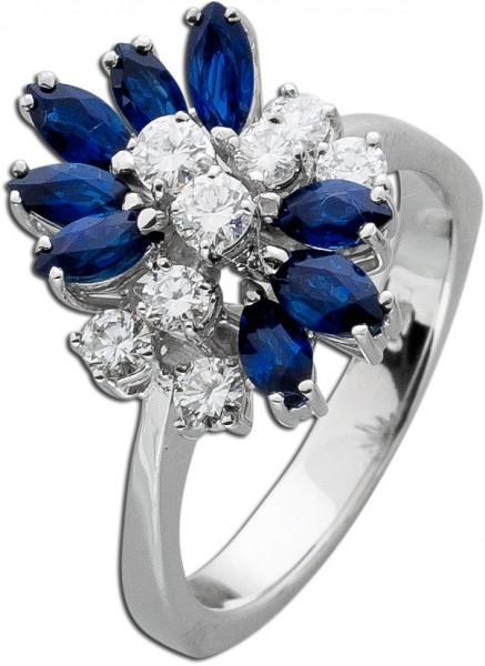 Ring – Saphirring Antik Weißgold ...