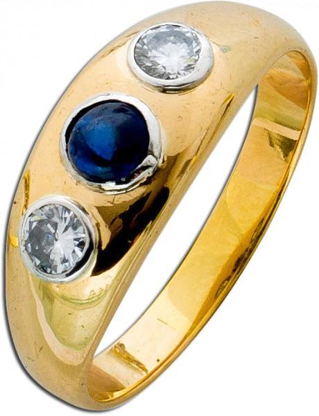 Ring – Saphirring Antik Gelbgold 7...