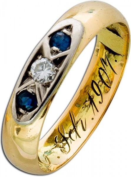 Ring – Goldring Antik Gelbgold 560...
