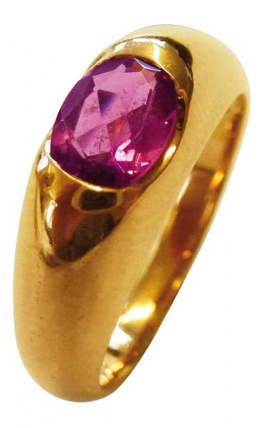 Wunderschöner Ring in Größe 17,8 mm aus feinem Roségold 333/-, hochglanzpoliert und mit einem echten, edlen, lila Turmalin besetzt im exklusiven Design. Ein sehr edles und hochwertiges Einzelstück, dass in feinster Goldschmiedearbeit gefertigt wurde auf e