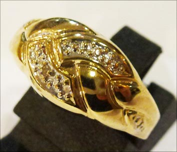 Goldring 17,8 mm aus feinem Gelbgold 333...