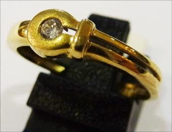 Goldring in Größe 17,8 mm aus feinem G...