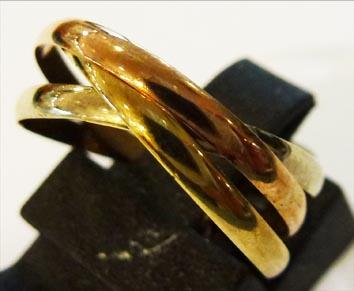 Goldring in Größe 17,0 mm, aus feinem ...