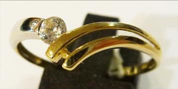 Goldring aus Gelbgold 333/- in Größe 2...