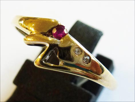 Goldring 19,0 mm aus feinem Gelbgold 333...