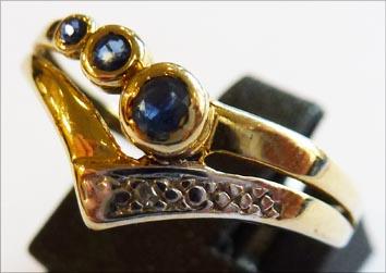 Ring Größe 18,5 mm aus Gelbgold 333/- ...
