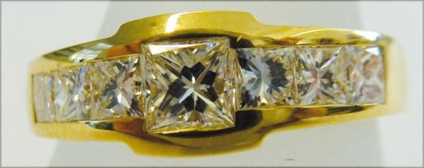 Märchenhaft schöner Ring in Gelbgold 7...