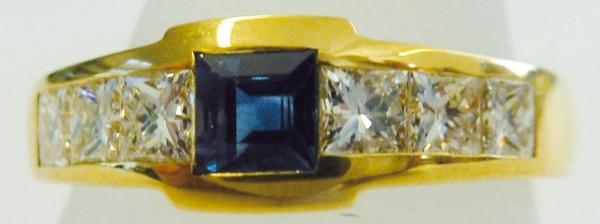 Traumhaft schöner Ring in Gold 750/- mi...