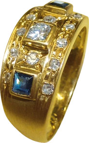 edler Ring in feinstem Gelbgold 750/- in...