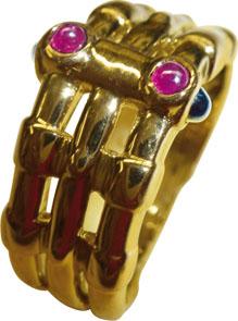 edler Ring in feinstem Gelbgold 750/- ho...