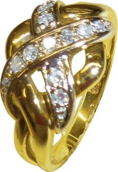Ring, glamouröser Goldring hochglanzpol...
